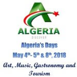 Algeria's Days in New York on May 4th, 5th and 8th 2018