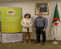 Meeting with the President of theAlgerian-American Association of Greater Houston (AAAGH)