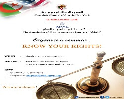 """Know Your Rights!"" Seminar at the Consulate General"