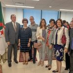 The Foreign Minister meeting with the algerian community