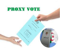 Important notice Proxy vote